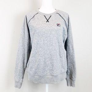 FILA Grey crewneck sweatshirt sweater large EUC